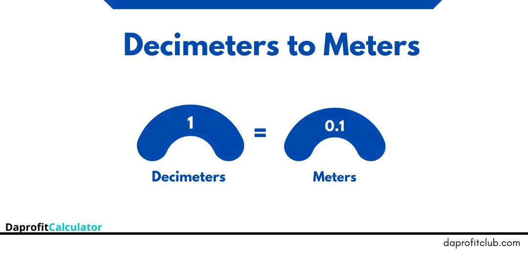 Decimeters to Meters
