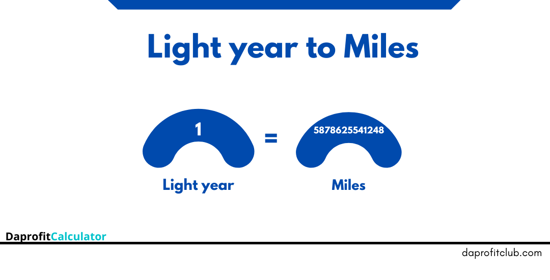 Light years to Miles