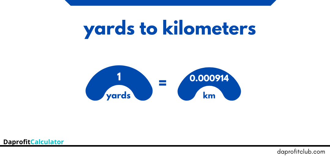 Yards to kilometers